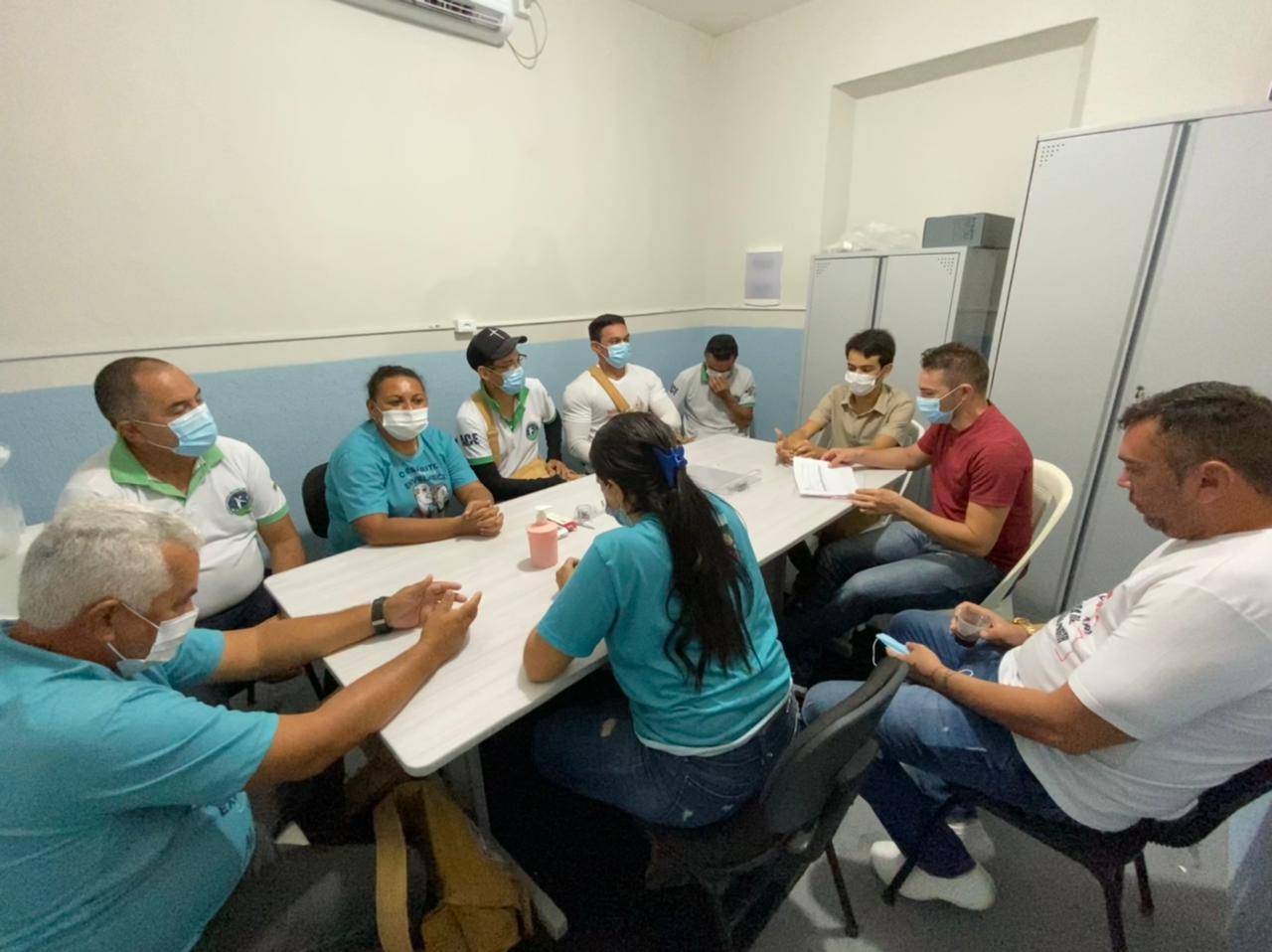 Reunião da Secretaria de Saúde com a Coodernação de Vigilância Epidemiológica