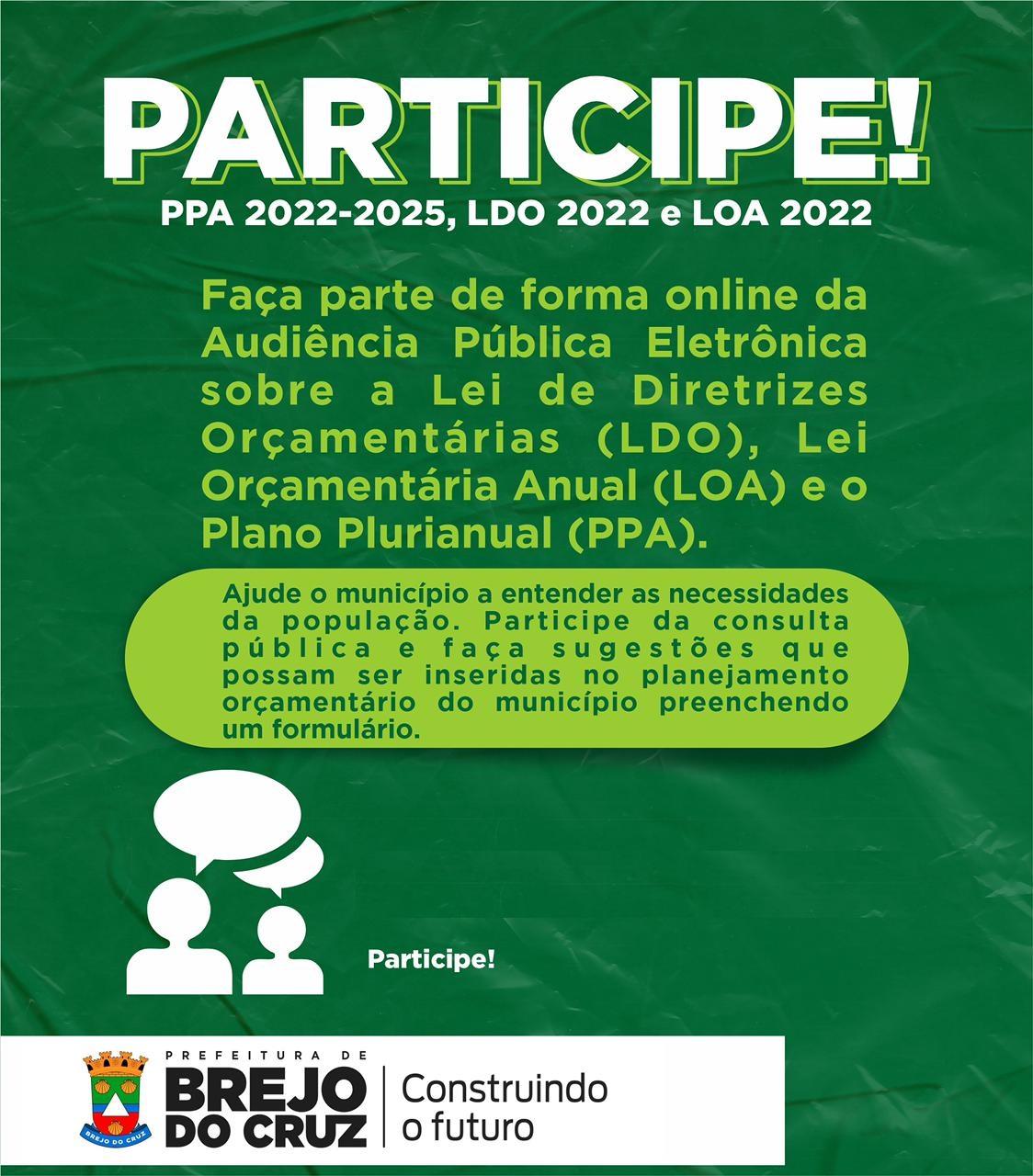 Consulta Pública – PPA, LDO e LOA